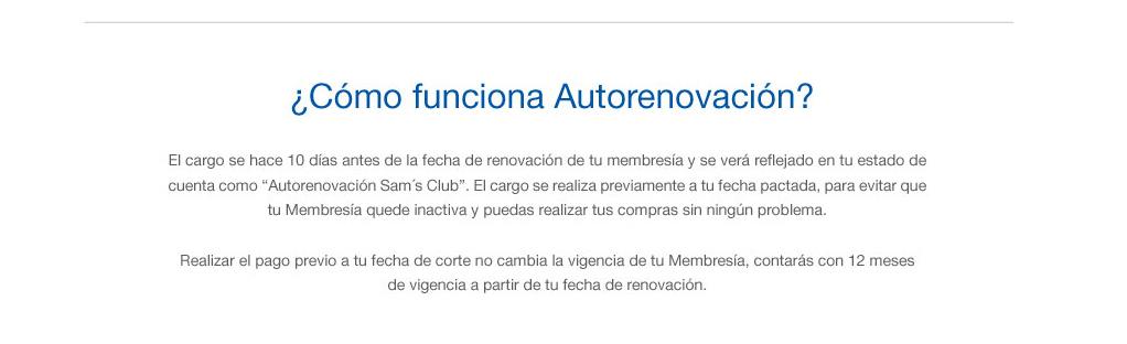 autorenovación sam´s club